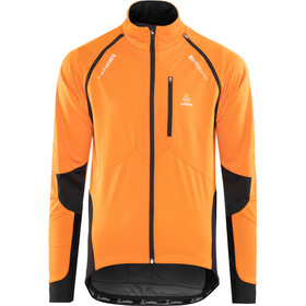 Löffler San Remo Windstopper Softshell Fahrrad Zip-Off Jacke Herren orange